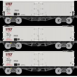 Ree modeles WB-581 Set de 3 Wagons TP FRIGO, Trappes à Glace, SNCF, STEF, ep. III