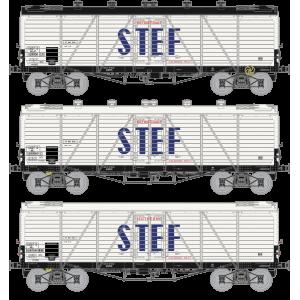 Ree modeles WB-587 Set de 3 Wagons TP FRIGO Reconstruit, Trappes à Glace / Aérateurs, SNCF, STEF, ep. III