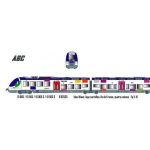 LS Models 10065 Autorail B 82535, Ile de France, logo carmillon