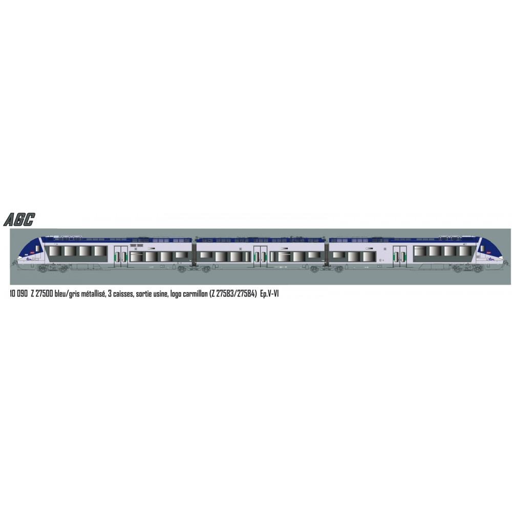 LS Models 10090S Autorail AGC Z 27583, Sortie usine, logo Carmillon, digital sonore