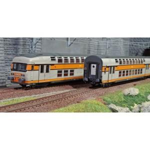 ViTrains 1122 Set de 3 voitures voyageurs VB2N SNCF, livré d'origine, Logo encadré