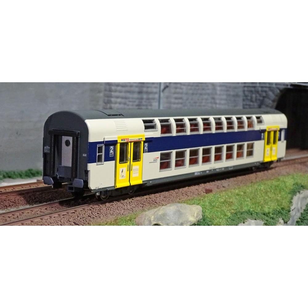 ViTrains 3215L Voiture voyageurs VB2N SNCF, livré Nord Pas de Calais, 2ème classe, Logo casquette, avec éclairage