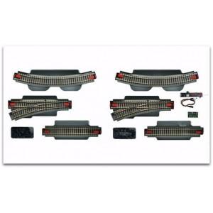 Roco géoline 51250 Coffret de voie complémentaire avec moteurs et décodeurs digital
