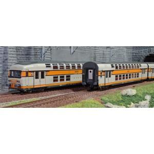 ViTrains 1123 Set de 3 voitures voyageurs VB2N SNCF, livré d'origine, Logo nouille