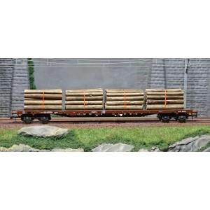 Roco 76574 Wagon ranchers, CFF, chargé bois