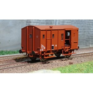 EPM 51.00.11 Wagon marchandise Fourgon Uk, rouge UIC, toit et châssis rouge, SNCF,  ep.IV