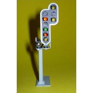 SR-RVJ-06 Signal cablé 6 feux, Rappel ralentissement, carré, en métal