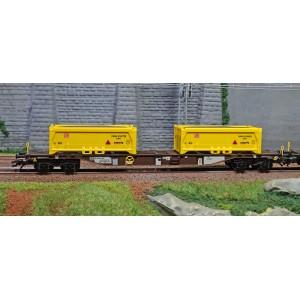 "Trix 24136 Set de 2 wagons porte-conteneurs ""Terrassement Stuttgart 21"", AAE"