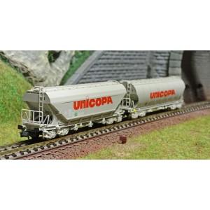 Arnold HN6440 Set de 2 wagons trémies à bogies, SNCF, UNICOPA, échelle N