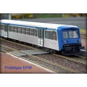 Epm 41.49.15 Rame Réversible Régional SNCF, RRR Rhones Alpes, bleu / inox, logo nouilles, n°37