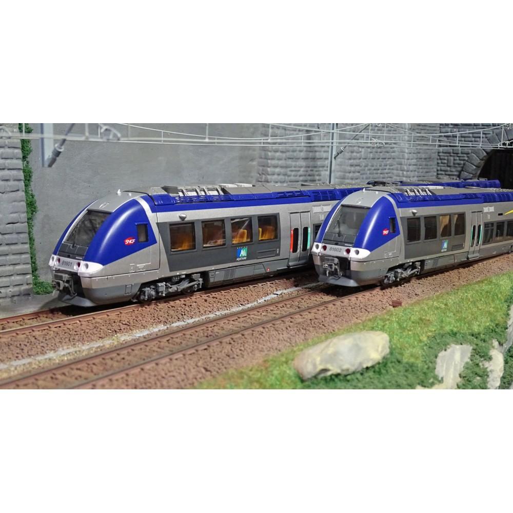 LS Models 10087S Autorail AGC B 80801, Aquitaine, première décoration, digital sonore