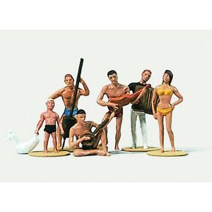 Preiser 0212174 Personnages, Musiciens sur la plage