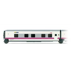 """Electrotren E3363 Voiture lit Talgo """"Elipsos"""", RENFE / SNCF, porte coté droit"""
