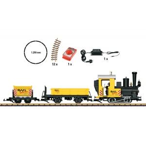 LGB 70503 Coffret de départ, avec locomotive vapeur et 2 wagons jaunes