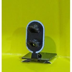 SV-BM-02 Signal carré violet nain, en métal et résine