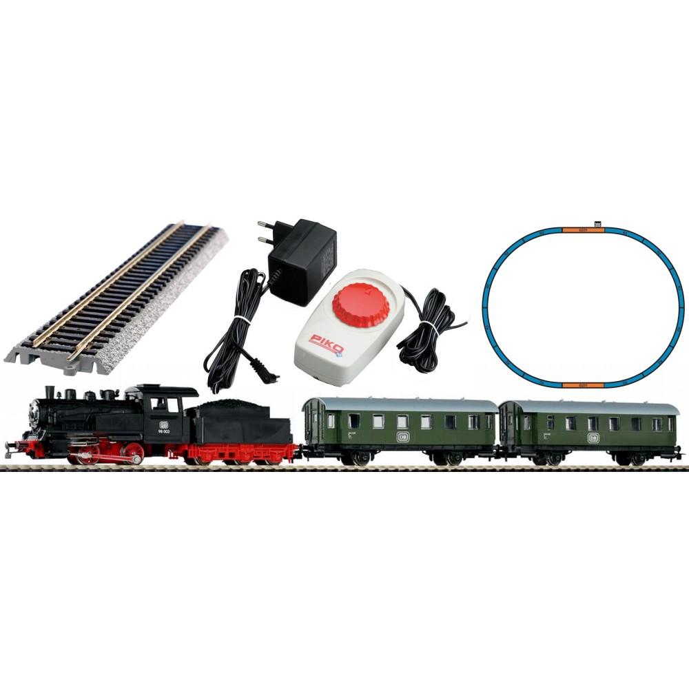 Piko 57112 Coffret de départ analogique avec locomotive vapeur 98-003 DB et 2 voitures voyageurs