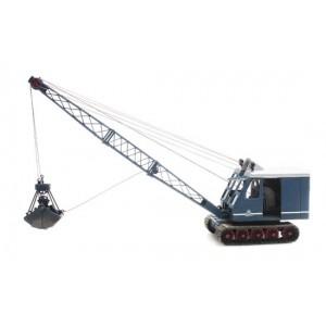 Artitec 387.409 Grue de chantier à câbles sur chenilles, bleue
