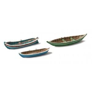 Artitec 387.08 Set de 3 anciennes barques à rames bleues