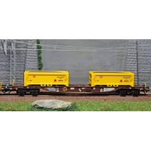 "Trix 24138 Set de 2 wagons porte-conteneurs ""Terrassement Stuttgart 21"", AAE"