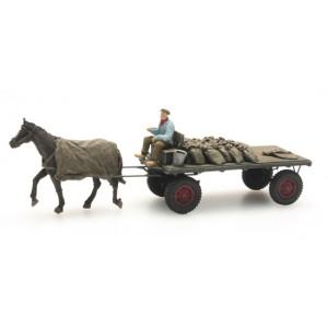 Artitec 387.276 Charrette de charbon avec cheval