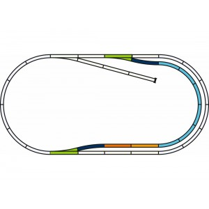 Piko 55321 Set de voies C avec ballast