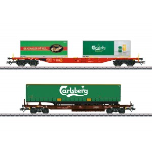 "Marklin 47109 Set de 2 wagons de marchandises KLV ""Carlsberg und Tuborg"", AEE, DB AG"