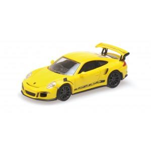 Minichamps 870063225 Voiture Porsche 911 991 GT3 RS Jaune