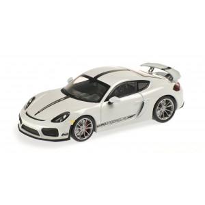Minichamps 870066120 Voiture Porsche Cayman GT4 Blanche