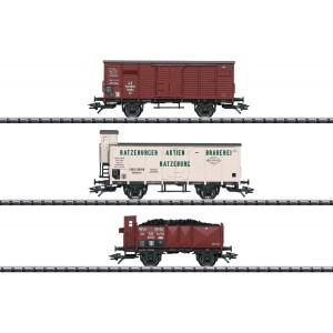 Trix 23220 Set de 3 wagons marchandises T3, KPEV, LBE