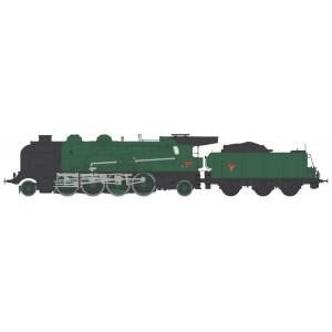 Ree Modeles MB-127.S Locomotive à vapeur 4-141 E 425, SNCF, MONTLUÇON, sonore, fumée