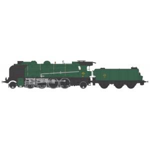Ree Modeles MB-130 Locomotive à vapeur 5-141 E 284, SNCF, VILLENEUVE