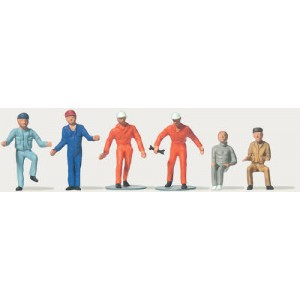 Preiser 0212522 Personnages, occupants de camion