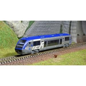 """Arnold HN2480 Autorail diesel X73903, SNCF, petit logo """"TER"""", Alsace, logo casquette"""