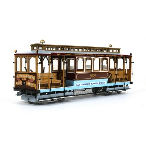 OcCre 53007 Tram Cable Car San Francisco 1/24 kit construction bois métal
