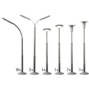 Faller 180538 Maquette, Kit de 26 lampadaires