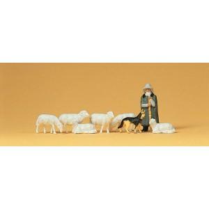 Preiser 14160 personnages, moutons et berger