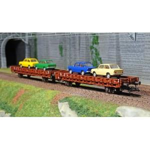 """Marklin 46404 Set de 2 de wagons plats """"DAF 66"""", NS"""
