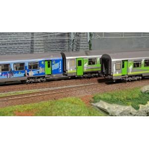 LS Models 41201 Set de 3 voitures B10+B11+B11, La Rochelle et Intercités