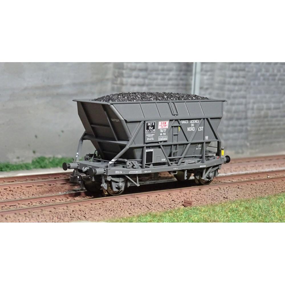 Jouef HJ6197 Wagon trémie EF30 à essieux, SNCF, Forges et Aciéries du Nord