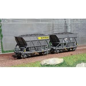 Jouef HJ6198 Set de 2 wagons trémie EF30 à essieux, SNCF, Simotra