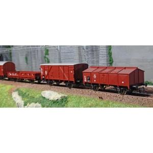 Roco VAP57DB-WAG Coffret locomotive vapeur série 57 DB, avec 4 wagons, Digital