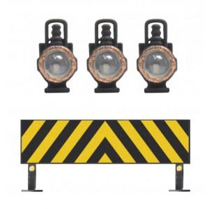 Artitec 28.115 NS rampe d'avertissement + 3 lampes à huile pour Dg