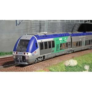 LS Models 10073 Autorail AGC X 76657, Bleu gris / Vert, Auvergne