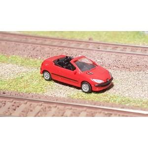 Sai 2192 Peugeot 206 cabriolet, rouge vallelunga