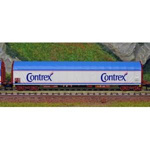 """MiniTrix 15375 Set de 3 wagons à parois coulissantes """"Transport d'eau minérale"""", SNCF, échelle N"""