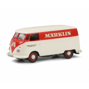 Schuco 452653801 Volkswagen Combi tolé publicitaire, rouge et blanc, MARKLIN