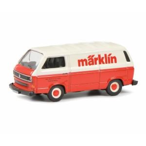 Schuco 452653804 Volkswagen Combi tolé publicitaire, rouge et blanc, MARKLIN