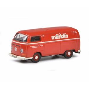 Schuco 452653803 Volkswagen Combi tolé publicitaire, rouge, MARKLIN