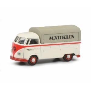 Schuco 452653802 Volkswagen Combi bâché publicitaire, blanc, MARKLIN