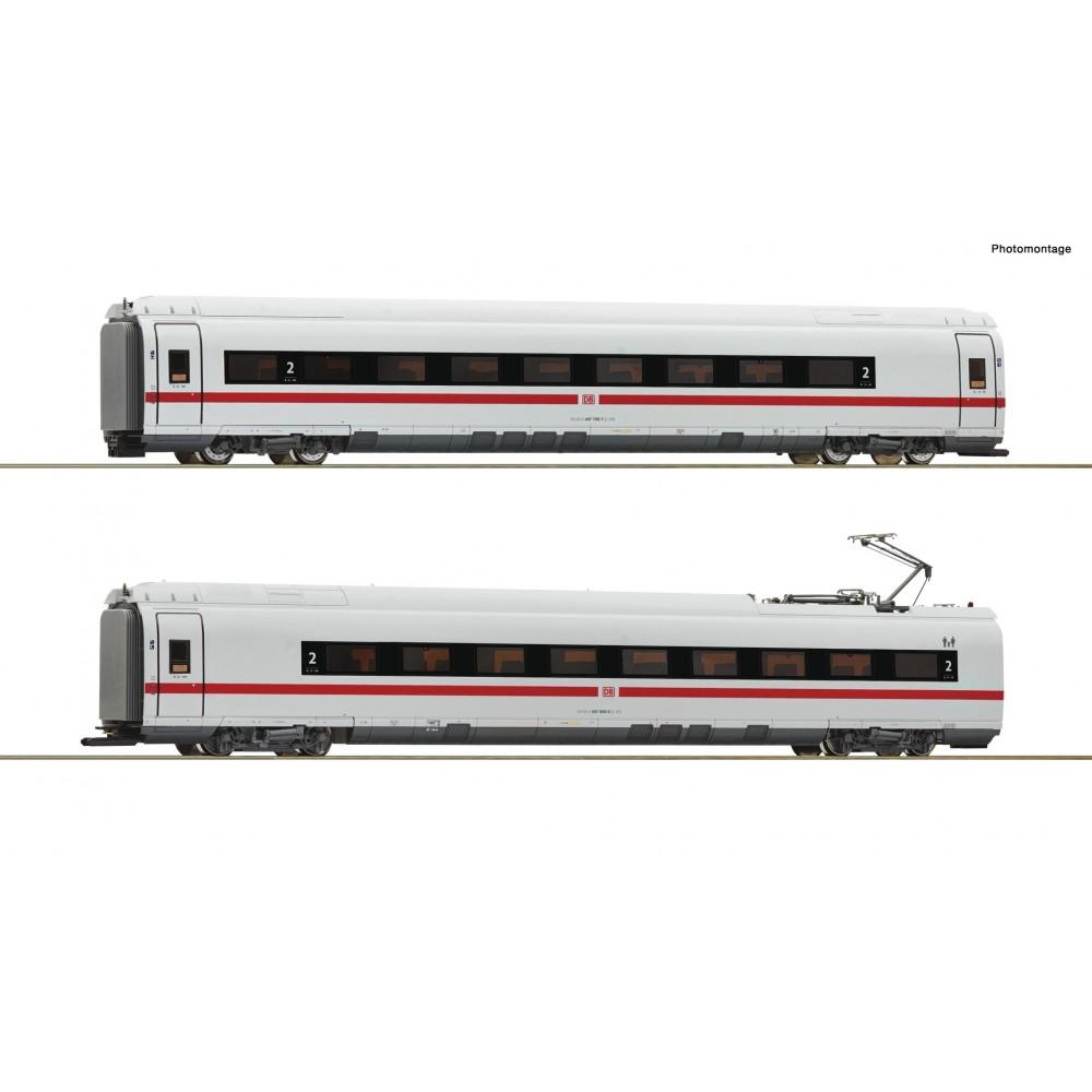 Roco 72098 Set de 2 voitures intermédiaires ICE (BR 407), 2eme classe, DB AG